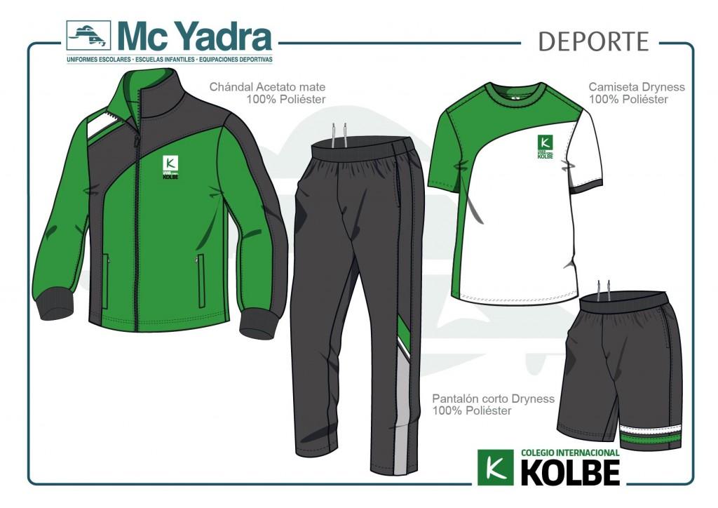 Uniforme deporte Kolbe