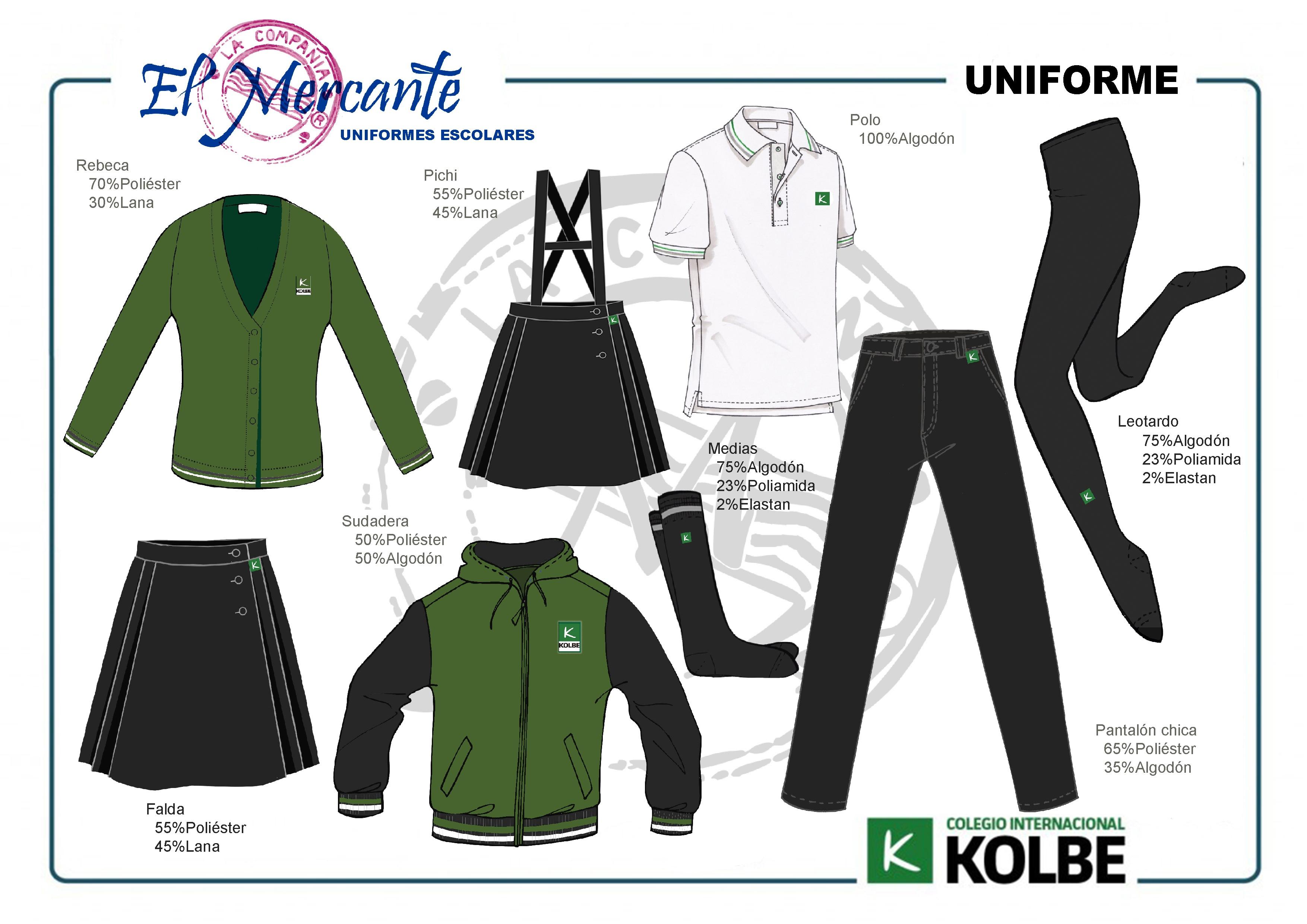 Uniforme Primaria Kolbe chicas