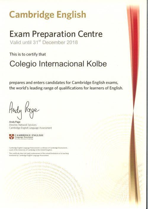 Acreditación Cambridge Kolbe